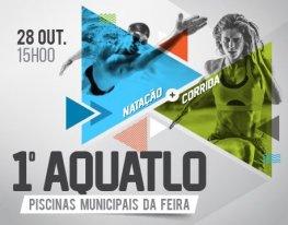 Banner 1º Aquatlo - Piscinas Municipais da Feira