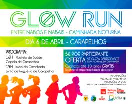 Banner Glow Run – Entre Nabos e Nabais